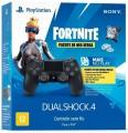 Controle de PS4 Playstation 4 Sony Dualshock 4 Jet Black + Vouncher Fortnite