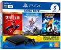 Console Sony PS4 Playstation 4 Slim 1TB com Spider Man GOTY Edition / Horizon Zero Dawn / Ratchet Clank + 3 Meses PSN Plus
