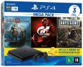 Console Sony PS4 Playstation 4 Slim 1TB com God of War / Gran Turismo Sport / Days Gone + 3 Meses PSN Plus