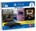 Console PS4 Playstation 4 Slim 1TB com 3 Jogos Mídia Física ( Days Gone, Detroit Become Human e Call of Duty Black Ops 4 ) + 3 Meses de PSN Plus